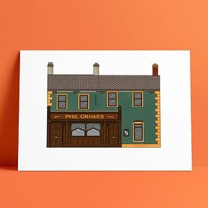 Phill Grimes Pub A4 Print