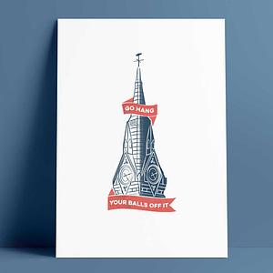 Clock Tower Print A4