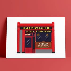 Walsh's Pub A4 Print