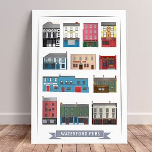 Waterford Pubs A3 Print